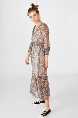 Cotton On Woven Kim Long Sleeve Maxi Dress