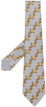 Hermes Pre-Owned 2000's bird print tie