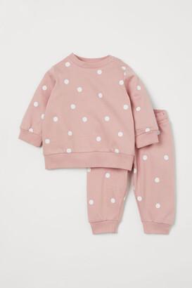 H&M 2-piece Sweatshirt Set - Pink