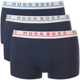 HUGO BOSS Men's 3 Pack Trunk Boxer Shorts Navy