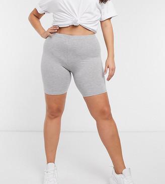 ASOS DESIGN Curve basic legging short in grey marl