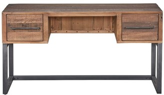 "Pottery Barn Dearborn 55"" Reclaimed Wood Desk with Drawers"