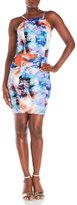 XOXO Floral Watercolor Cutout Dress