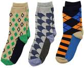 Jefferies Socks Funky Diamond Dress Socks 3-Pack Boys Shoes