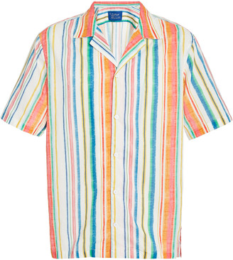 Simon Miller Conroe Striped Cotton-Blend Shirt