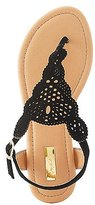 Charlotte Russe Qupid Laser Cut Thong Sandals