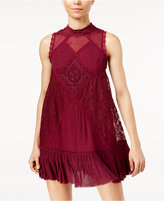 Free People Angel Lace Mixed-Media Dress
