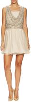 Alice + Olivia Hilta Embellished Flared Dress