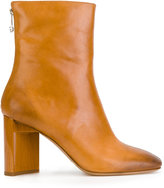Maison Margiela asymmetric heel ankle boots - women - Calf Leather/Leather - 36