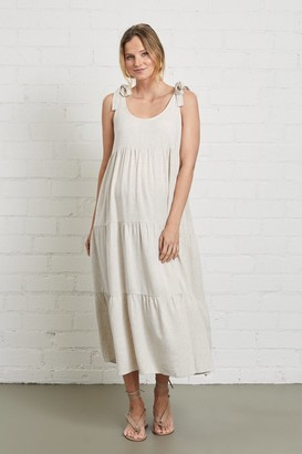 Maternity Linen Adelaide Dress