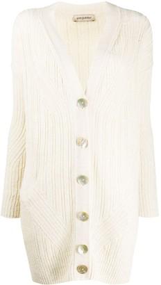 Gentry Portofino Ribbed Long-Line Cardigan