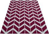 Cornermill Chevron Stripe Wool Durrie Rug, OxoP 160 x 230cm