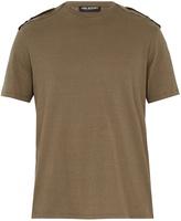 Neil Barrett Shoulder-epaulette cotton T-shirt