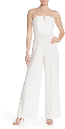 Love by Design Strapless Wired V Wide Leg Jumpsuit