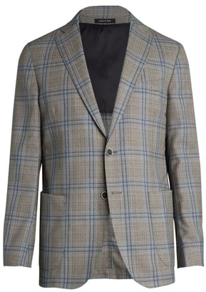 Saks Fifth Avenue COLLECTION Double Windowpane Wool Sportcoat