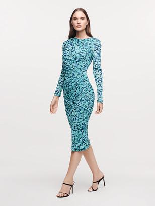 Diane von Furstenberg Alfie Mesh Midi Dress