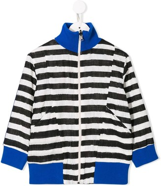 Noë & Zoë striped bomber jacket