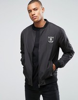ONLY & SONS Bomber Jacket With Badges