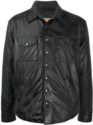 Giorgio Brato Leather Shirt Jacket