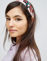 Asos Limited Edition Embroidered Velvet Headband