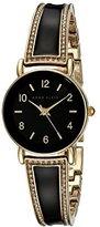 Anne Klein Women's AK/1028BKGB Swarovski Crystal-Accented Watch
