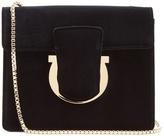 Salvatore Ferragamo Thalia velvet shoulder bag