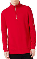 Topman MA1 Zip Neck Sweatshirt