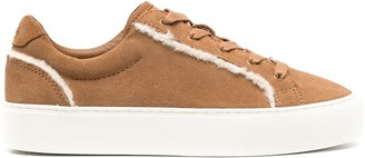 UGG Shearling-Trimmed Sneakers