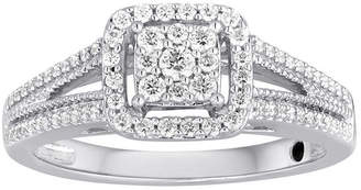 I Said Yes 3/8 CT. T.W. Diamond Framed Platinaire Engagement Ring
