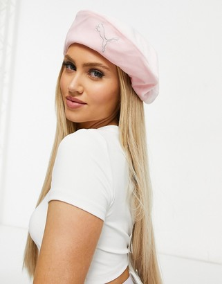 Puma Icons 2.0 velour beret in pastel pink - ShopStyle Activewear