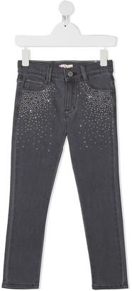Billieblush Crystal Embellished Slim-Fit Jeans