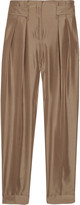 Valentino Tapered woven silk pants