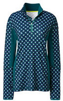 Lands' End Women's Active Half-zip Pullover-Emerald Jewel Geo