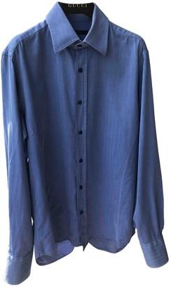 Gucci Blue Cotton Shirts