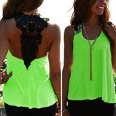 Susenstone Womens Casual Backless Hollow Vest Tops Tank Sleeveless Shirt Blouse (L, )