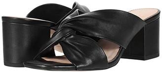 J.Crew Leather Twisted Carmen Sandal (Black) Women's Sandals