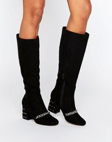 Asos CHIRON Loafer Knee High Boots