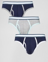 Asos Briefs With Stripe Waistband 3 Pack