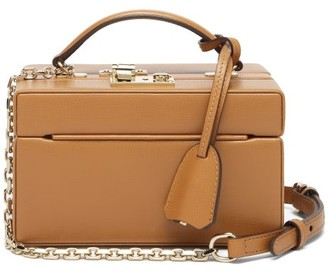 Mark Cross 1845 Mini Saffiano-leather Box Bag - Tan
