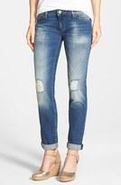 Mavi Jeans Women's Emma Ripped Knee Boyfriend Slim Jeans