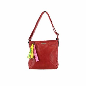 Little Marcel Womens ID24-LMMessenger Bag Red Red (RED RED)