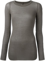 Rick Owens ribbed T-shirt - women - Silk/Viscose - 38