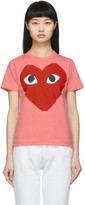 Comme des Garcons Pink Big Heart T-Shirt