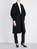 Victoria Beckham Draped raglan-sleeve wool coat