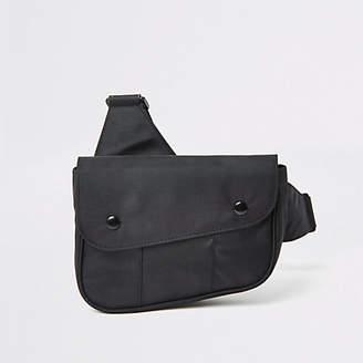 River Island Black nylon cross body bag