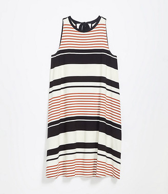 LOFT Maternity Striped Tie Back Swing Dress