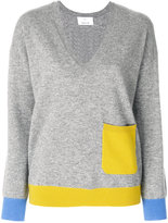 Allude contrast pocket jumper - women - Cashmere - M