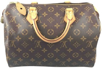 Louis Vuitton Speedy Brown Leather Handbags