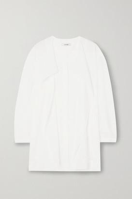 LE 17 SEPTEMBRE - Draped Crinkled-voile Blouse - White