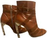 Dries Van Noten Brown Python Ankle boots
